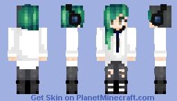 My Minecraft OC Akame- Boy's School Uniform with headphones Minecraft Skin