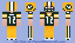 Aaron Rodgers [ Green Bay Packers ] { QB } Minecraft Skin