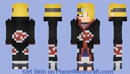 Deidara | Akaktsuki Cloak (デイダラ) Minecraft Skin