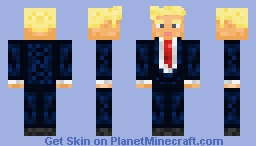 Donald J. Trump, the 45th President of the United States of America Minecraft Skin