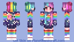 Nyan Addiction (+Male Version In Desc) Minecraft Skin