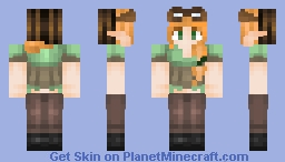 Alex | Elf-a-fied with aviator goggles and a hat  Minecraft
