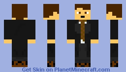 Fox Mulder (X Files) Minecraft Skin