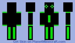 Alien skin Minecraft Skin