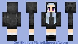 Hooded Anime Girl Minecraft Skin