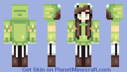 Froggy girl Minecraft Skin