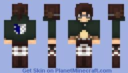 AoT ➢ Hanji Zoë ✯Survey Corps Cape✯ Minecraft Skin