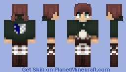 AoT ➢ Isabel Magnolia ✯Survey Corps Cape✯ Minecraft Skin