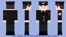 Schutzstaffel M32 Black Uniform Minecraft Skin