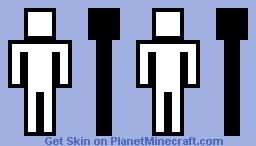The Man on The Restroom Door Minecraft Skin