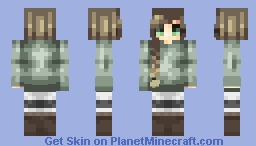 a fanskin for my bun-braid queen PAPREL Minecraft Skin