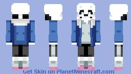 Undertale Sans (Remaster) -w- Minecraft Skin