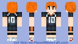 Hinata Shouyou Haikyuu! Minecraft Skin