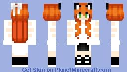Ginger Cat Girl (Anime Girl) Minecraft Skin