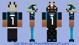 Cam Newton [ Carolina Panthers ] { QB } Minecraft Skin