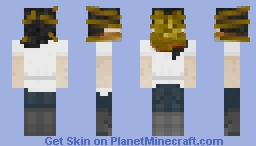 Facehugged scientist Minecraft Skin