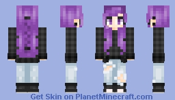 Lea Goth Minecraft Skin