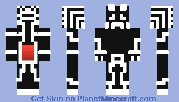 Powered By Blood - B&W Prototype Minecraft Skin