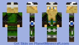 Dwarven prince with blue details Minecraft Skin
