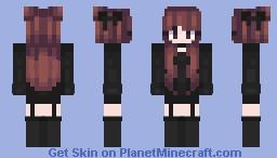 Fire Goth Girl Minecraft Skin