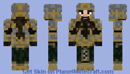 A Dwarf Warrior, ready to defend a kingdom! Minecraft Skin
