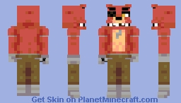 Foxy the Pirate (FNAF) Minecraft Skin