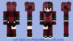 вℓα¢к яσѕє Minecraft Skin