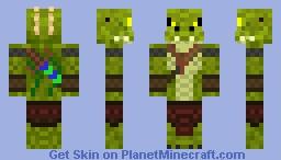 Crocodile Warrior Minecraft Skin