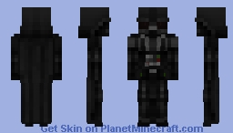 Star Wars: Darth Vader (Mask off version in description) Minecraft Skin