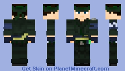 Metal Gear 2 - Solid Snake Minecraft Skin