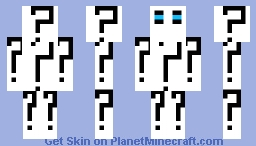 Question Mark Figure Minecraft Skin