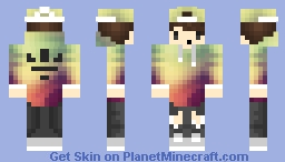 cool dude with sunset hoodie minecraft skin