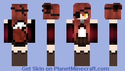 Fnaf Old Foxy Minecraft Skin Alpha Beta Demo - Skins para minecraft pe foxy