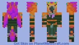 High Arakkoa Orange Purple/Green Minecraft Skin