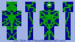 Toxic Water Alien Minecraft Skin