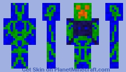 Epic Night Vision Creeper Minecraft Skin