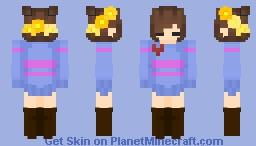 Frisk Remake Minecraft Skin