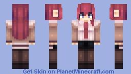 Kurisu Makise Minecraft Skin