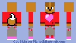 Jaden The Puppy In Valentines Day Minecraft Skin