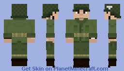 WWII United States Paratrooper Minecraft Skin