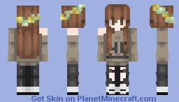 The Flower Girl With Awesome Outfit Minecraft Skin