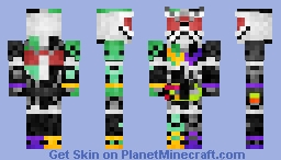 "Kamen Rider Ex-Aid Double Gamer Level 2 ""Detective Double"" 仮面ライダーエグゼイド•ダブルゲーマーレベル2 Minecraft Skin"