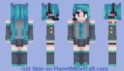 Hatsune Miku (900!) Minecraft Skin