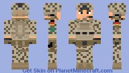 Germany Bundeswehr ISAF-NATO (Tropentarn) Minecraft Skin
