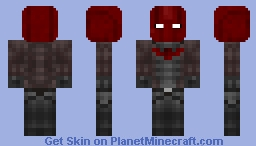 Red Hood (Removable Helmet) Minecraft Skin