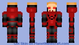 Red Lantern Guy Gardner [Update] Minecraft Skin