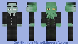 H.P. Lovecraft - The Werethulhu (2 side) Minecraft Skin