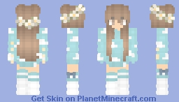 Cloud girl  Flower head Minecraft