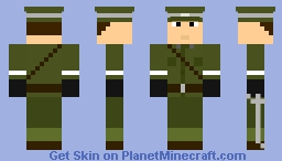 World War 1 American Officer Minecraft Skin