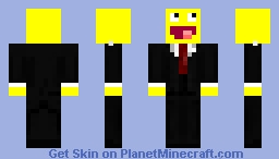 Awesome face in a suit Minecraft Skin